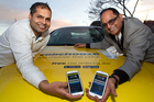 Arjun (left) and BK Sharma say their Cab Chooze app will be good for drivers and consumers. Photo / Richard Robinson