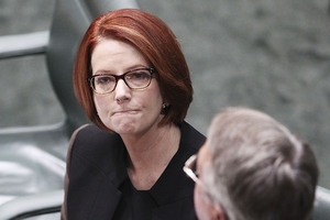 "Gillard said on Wednesday she was ""absolutely confident ... it will be easier for the next woman, and the woman after that, and the woman after that"". Photo / Getty Images"