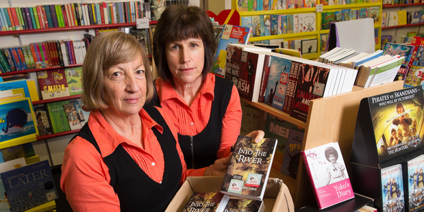 Helen Le Heron (left) and Anne Cooper in their Hamilton bookstore. Photo / Stephen Barker