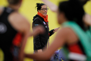 Coach Noeline Taurua puts the Magic through their paces in their final play-offs campaign under her control. Photo / Christine Cornege