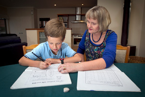Julie Denby sees little benefit in her 9-year-old son Matthew's after-school study. Photo / Natalie Slade