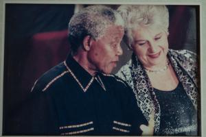 Dame Catherine Tizard meeting Nelson Mandela. Photo / Michael Craig
