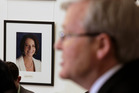 The smiles from Gillard have gone, now Kevin Rudd's battle for the Australian Labor party leadership has been won. Photo / AP