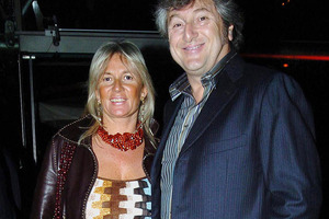Vittorio Missoni, right, and his wife Maurizia Castiglioni. The couple disappeared when their plane crashed earlier this year. Photo / AP