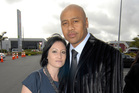 Jonah Lomu and Nadene Quirk married in Wellington so Lomu's father could attend. Photo / Michael Craig