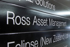 The Ross Asset Management office in Wellington, home office of quasi-ponzi scheme operator David Ross. Photo / Mark Mitchell