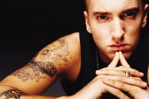 Rap star Eminem.
