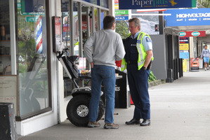 Neal Summers rode his Segway on a footpath. Photo / APN