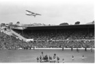 Marx Jones flies a Cessna aircraft low over Eden Park in an attempt to stop the All Blacks v Springboks' third and final rugby test match. Photo / NZ Herald