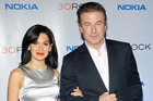 Alec Baldwin and his wife Hilaria Thomas. Photo/AP