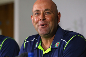 Darren Lehmann in his first press conference as Australian cricket coach. Photo / Getty Images
