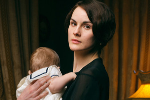 After the death of her husband Matthew, Lady Mary has been left holding the baby. Photo / PBS/Masterpiece