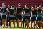 Hopes are rising that the Suncorp Stadium surface won't be a factor in tonight's State of Origin clash with Brisbane basking in sunshine leading up to the game. Photo / Getty Images.