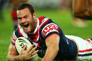 Two tries and two line breaks were season bests for Boyd Cordner. Photo / Getty Images