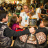 New Zealand Rugby 7's womens Captain Huriana Manuel is mobbed by young fans after the World Cup at Auckland International Airport. Photo / Greg Bowker