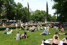 Summertime in Helsinki's Esplanadi Park. Photo / Supplied