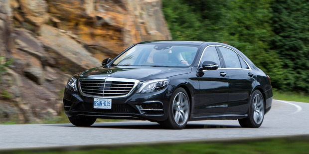The new Mercedes-Benz S-Class features Magic Body Control, which uses cameras and radar to 'read' the road ahead and adjust suspension to absorb bad road conditions.