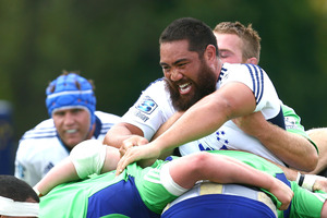 Injury to Charlie Faumuina exposed the Blues front row.  Photo / Getty Images