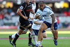 George Moala of the Blues in action during the Super Rugby match between The Sharks and Blues from Growthpoint Kings Park in Durban. Photo / AP
