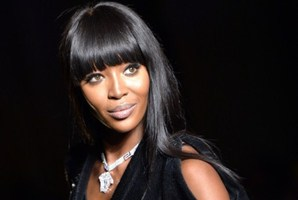 British model Naomi Campbell opens Versace's Haute Couture Autumn/Winter show,Photo / AFP