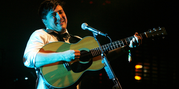 Mumford & Sons perform at Glastonbury. Photo / AP
