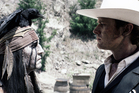 Johnny Depp as Tonto and Armie Hammer as The Lone Ranger. Photo / AP