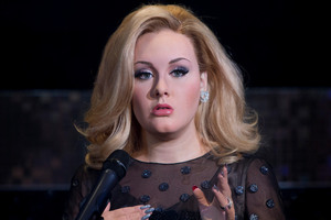 The wax figure of British singer Adele is revealed at Madame Tussauds in central London. Photo / AP