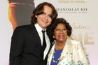 Prince Jackson, left, and Katherine Jackson arrive at the world premiere ofMichael Jackson ONE in Las Vegas. Photo / AP