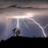Lightning strikes above the Geysers area of northern Sonoma County, near Geyserville Calif.  Photo / AP
