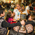New Zealand women's Rugby Sevens captain Huriana Manuel is mobbed by young fans at Auckland International Airport after arriving home from the World Cup Event held in Moscow, Russia. Photo / NZ Herald