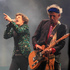 Mick Jagger and Keith Richards of The Rolling Stones perform at Glastonbury. Photo / AP