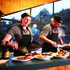 Chefs preparing dinner at Hollyford. Photo / Ngai Tahu Tourism