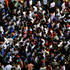 Supporters of Egypt's Islamist President Mohammed Morsi crowd during clashes with opponents where Maspero, Egypt's state tv and radio station is located, in Cairo, Egypt. Photo / AP