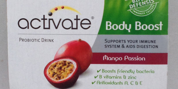 Activate Body Boost Mango Passion, $5.70 for 4 100ml bottles.