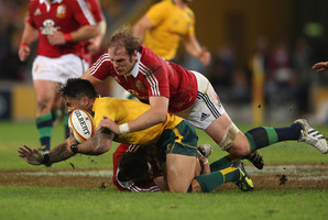 Lock Alun Wyn-Jones will lead the side in place of his injured Welsh colleague Sam Warburton. Photo / Getty Images