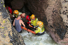 Aaron Mitchell is grateful to the rescuers who saved him from the blowhole at Muriwai last October. Photo / TV2