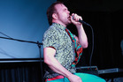 Daniel Bedingfield gives it his all at Juice Bar Parnell. Photo / Norrie Montgomery.