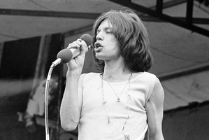 Mick Jagger performing at Hyde Park in 1969 in what was the band's first concert in two years.