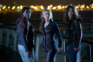 Alan Ball (left) says TB6 will be no easier for Sookie (Anna Paquin, centre).