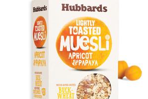 Hubbards Apricot and Papaya muesli.
