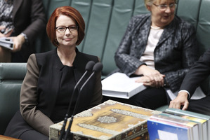 "Former Australian Prime Minister Julia Gillard referred to the plaques, describing them as ""snapshots of the shared and lasting bonds between our two nations"". Photo / Getty Images"