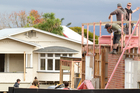 A neighbour of the houses in this year's series of TV3 reality show The Block New Zealand played down the effects of the works. Photo / Richard Robinson