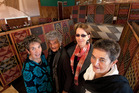 Pictured are weavers (from left) Gaylene Henry, Matekino Lawless, Cathy Schuster, Christina Wirihana. Photo / APN