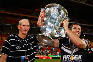 Many armchair critics believed Wayne Bennett was the spark that fired the Kiwis to World Cup victory in 2008. Photo / Getty Images