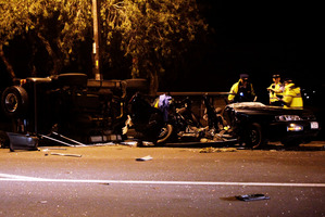 Four young men died in this crash in Mangere in May after a police chase. Photo / SNPA