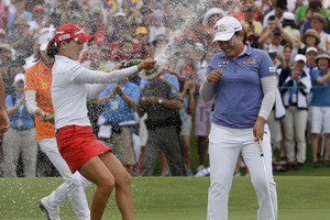 Inbee Park will be eyeing an unprecedented fourth consecutive major at the British Open in August. Photo / AP