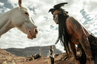 Johnny Depp provides most of the laughs as Tonto in 'The Lone Ranger'. Photo / AP