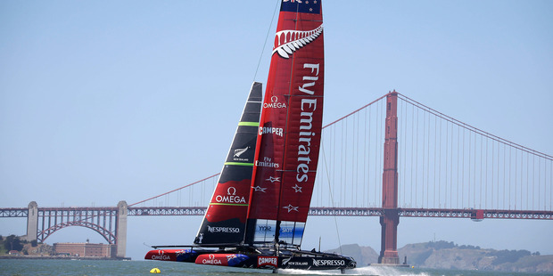 """Team NZ is challenging two of the 37 """"safety"""" recommendations made by Regatta Director Ian Murray and that protest will be heard by a jury next week. Photo / AP"""