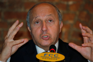 French Foreign Minister Laurent Fabius. Photo / AP