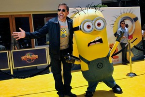 Steve Carell says he could make a fortune from his minions. Photo / AP